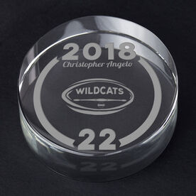 Rugby Personalized Engraved Crystal Gift - Custom Team Award