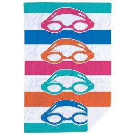 Swimming Premium Blanket - Colorful Swim Goggles