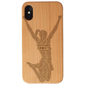 Cheerleading Engraved Wood IPhone® Case - Personalized Cheer Words
