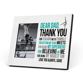 Gymnastics Photo Frame - Dear Dad Female Silhouette