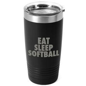 Softball 20 oz. Double Insulated Tumbler - Eat Sleep Softball