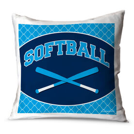 Softball Throw Pillow Softball Crossed Bats