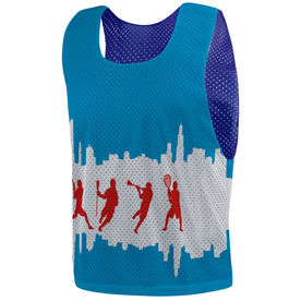 Guys Lacrosse Pinnie - Chicago Flag