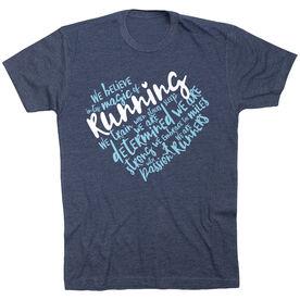 Running Short Sleeve Tee - Live Love Run Heart