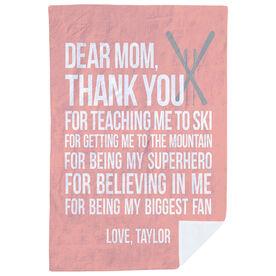 Skiing Premium Blanket - Dear Mom
