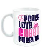 Cheerleading Coffee Mug Peace Love Cheer Forever
