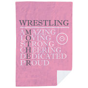 Wrestling Premium Blanket - Mother Words