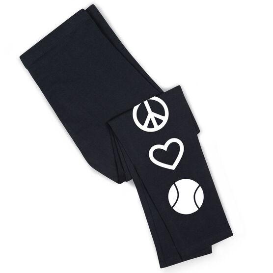 Tennis Leggings Peace Love Tennis