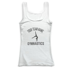 Gymnastics Vintage Fitted Tank Top - Personalized Team