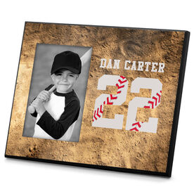 Baseball Photo Frame Baseball Stitches Jersey Number
