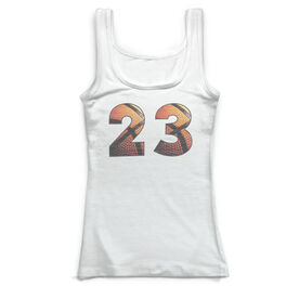 Basketball Vintage Fitted Tank Top - Custom Basketball Numbers