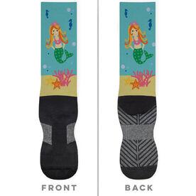 Printed Mid-Calf Socks - Mermaid
