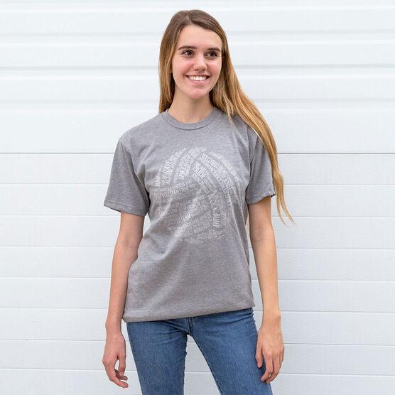 Volleyball T-Shirt Short Sleeve Volleyball Words