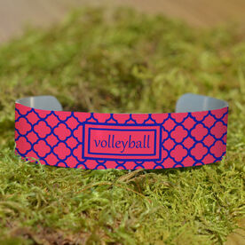Volleyball Cuff Bracelet (Narrow) Volleyball Quatrefoil