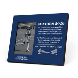 Guys Lacrosse Photo Frame - Seniors 2020 Our Future Is Bright