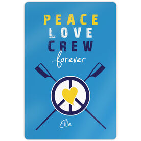 "Crew 18"" X 12"" Aluminum Room Sign Peace Love Crew Forever"