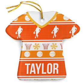 Basketball Porcelain Ornament Ugly Sweater