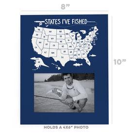 Fly Fishing Photo Frame - States I've Fished