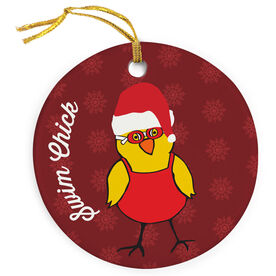 Swimming Porcelain Ornament Swim Chick