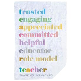 Personalized Premium Blanket - Teacher Mantra (Simple)
