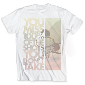 Vintage Basketball T-Shirt - You Miss 100% Of The Shots