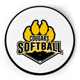 Softball Circle Plaque - Custom Logo