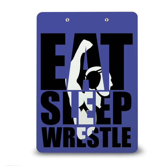 Wrestling Custom Clipboard Eat Sleep Wrestle