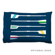 Crew Pillowcase - Oar Pattern