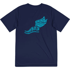Cross Country Short Sleeve Tech Tee - Winged Foot Inspirational Words
