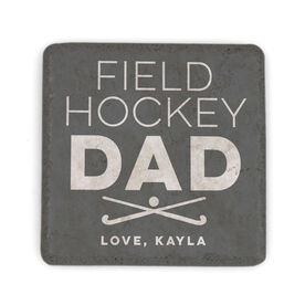 Field Hockey Stone Coaster - Personalized Field Hockey Dad