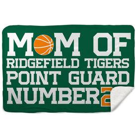 Basketball Sherpa Fleece Blanket - Personalized Basketball Mom