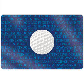 """Golf 18"""" X 12"""" Aluminum Room Sign - Ball With Terms"""