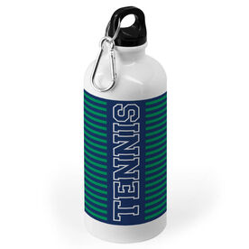 Tennis 20 oz. Stainless Steel Water Bottle - Word With Stripes