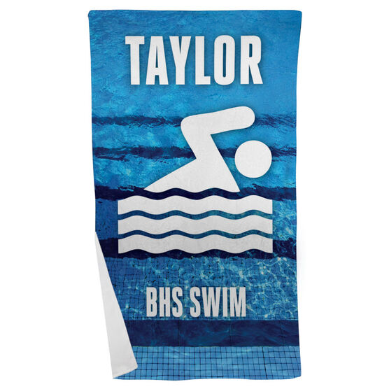 Swimming Beach Towel Personalized Team