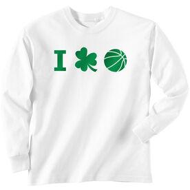 Basketball Tshirt Long Sleeve I Shamrock Basketball