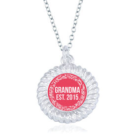 Personalized Braided Circle Necklace - Established Grandma
