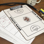 ChalkTalk Girls Lacrosse Custom Coaches Dry Erase Clipboard