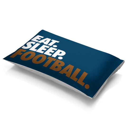 Football Pillowcase - Eat Sleep Football