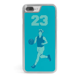 Basketball iPhone® Case - Personalized Girl with Big Number