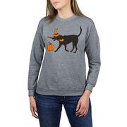 Field Hockey Crew Neck Sweatshirt - Witch Dog
