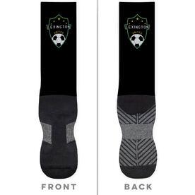 Soccer Printed Mid-Calf Socks - Your Logo