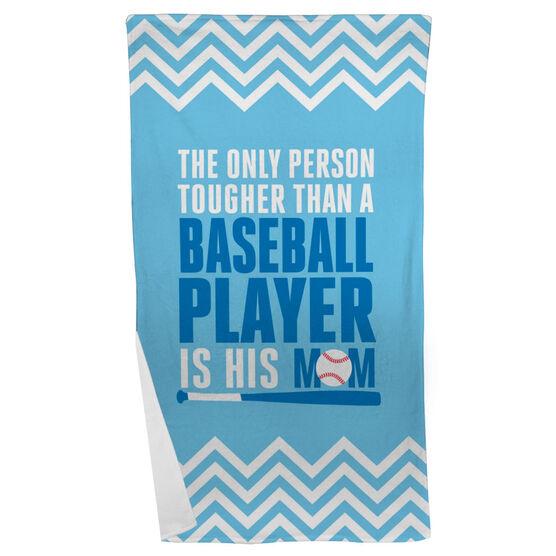 Baseball Beach Towel Tougher Than A Baseball Player
