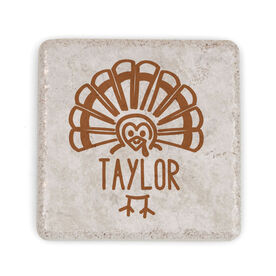 Personalized Stone Coaster - Thanksgiving Place Setting
