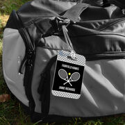 Tennis Bag/Luggage Tag - Personalized Tennis Team with Rackets