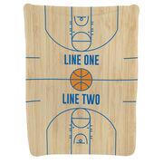 Basketball Baby Blanket - Basketball Court Wood