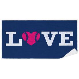 Softball Premium Beach Towel - Love Softball