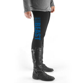 Wrestling High Print Leggings Look Like a Beauty Train Like a Beast