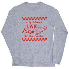 Lacrosse Tshirt Long Sleeve - Lax Pizza