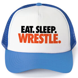 Wrestling Trucker Hat Eat Sleep Wrestle