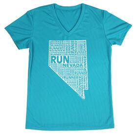 Women's Running Short Sleeve Tech Tee Nevada State Runner